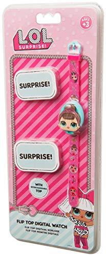 L.O.L. Surprise ! Reloj Digital Rosa para Niñas con 3 Cubiertas De Caracteres Intercambiables | Accesorios De Muñecas…