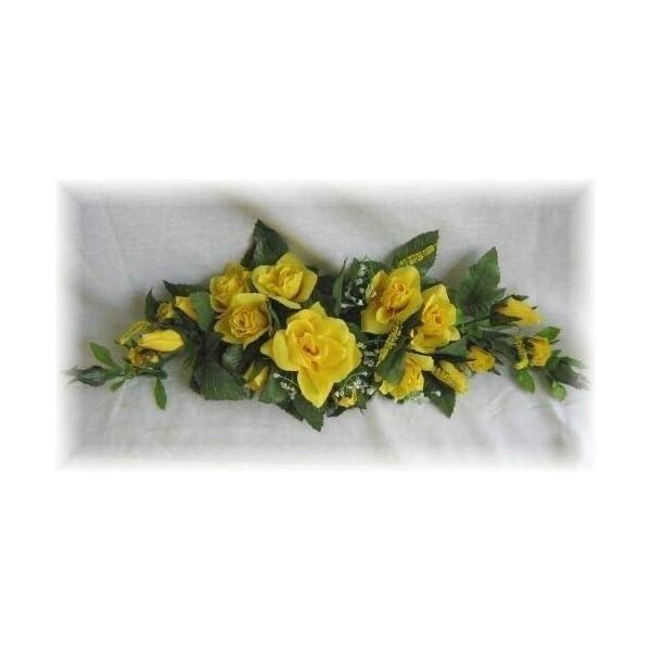 Rose Swag Yellow Wedding Table Centerpiece Silk Flowers Arch Gazebo Decor DIY