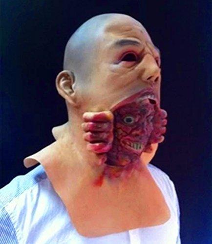 Blurp Charlie Costume (Gmasking Blurp Charlie Latex Bloody Zombie Mask Halloween)