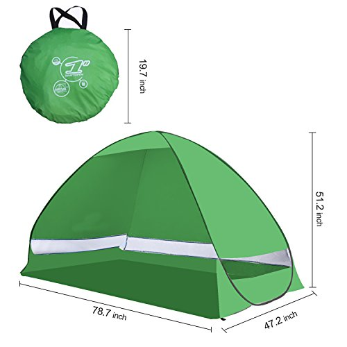 Yazer Portable nti UV Automatic Beach Camping Tent - Green