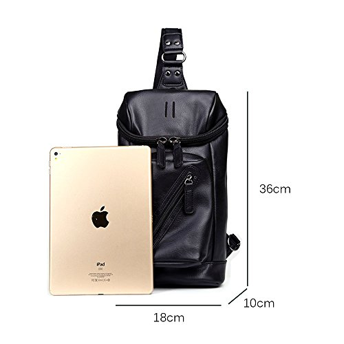 Bag Soft Capacity Teens with Functional Shoulder and Fashionable PU for Travel for Body Men Bag Bag Cross Leather iVotre Sling Large Boys 08RUqww