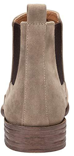 Pictures of JOUSEN Men's Chelsea Boots Elastic Formal Gray 11.5 M US 6