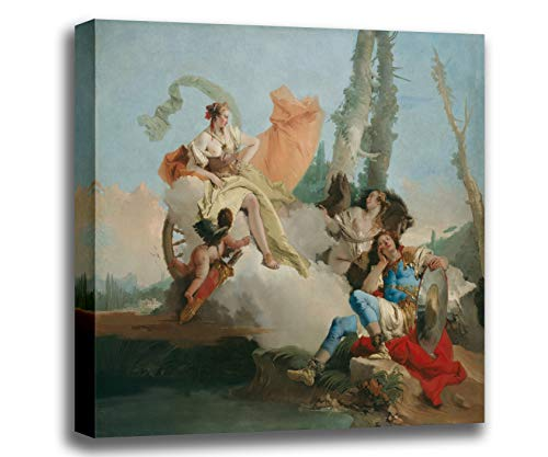 Canvas Print Wall Art - Rinaldo Enchanted by Armida - Giovanni Battista Tiepolo - Giclee Printed on Stretched Gallery Wrap - 16x14 inch (Rinaldo Enchanted By Armida Giovanni Battista Tiepolo)
