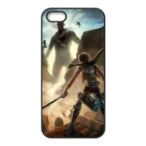 Attack On Titan coque iPhone 4 4S Housse téléphone Noir de couverture de cas coque EBDOBCKCO13872