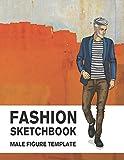 Fashion Sketchbook Male Figure Template: 440