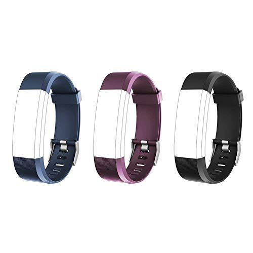 Lintelek Replacement Band Interchangeable Bracelet Strap for Fitness Tracker ID115plus HR, TPE & ()