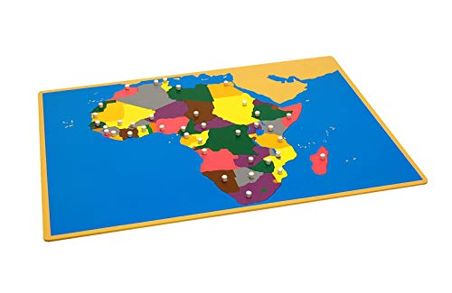 (LEADER JOY Montessori Materials Puzzle Map of Africa)