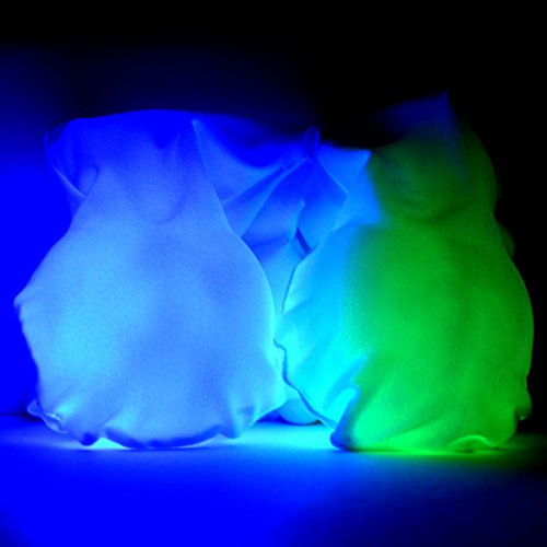 GloFX LED Sock Poi Set: 9-Mode Light Up Balls Set of 2 - Glowing Flow Arts