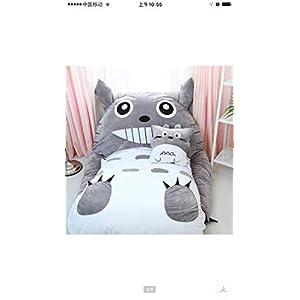 Plush Totoro Sleeping Bag Sofa Bed Double Foam Beanbag Cartoon Mattress Cushion for Kids Tatami Bed Xmas Gift(130 80CM)