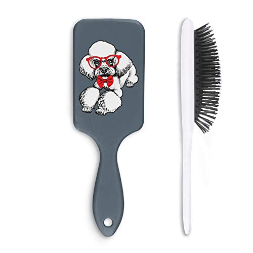 Airbag Massage Comb Cute Poodle Dog Love Bow