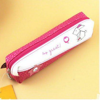 Material de oficina con diseño lápices de accesorios para estudiante de pvc estuche para lápices con cierre bolsas de Instalación sencilla con, color rosso: Amazon.es: Oficina y papelería