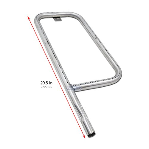 Uniflasy Stainless Steel Grill Burner Tube Replacement Parts 41862, 69956 for Weber Q200, Q220, 396000, 396001, 396002, 566002, 53060001, 54060001 (Length 20.5 inch)