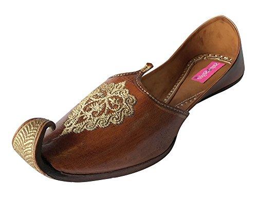 70f698c20fa Step n Style Men Vintage Look Handmade Leather Khussa Shoes Indian Aladdin  Juttis - Buy Online in Oman.