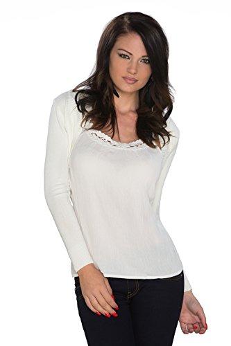 Y & T best fashion - Chaqueta - para mujer Weiß