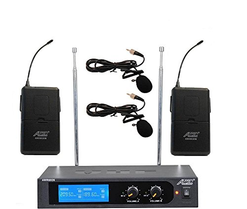 Audio2000'S tm AWM6026M VHF Dual Channel Wireless Microphone System