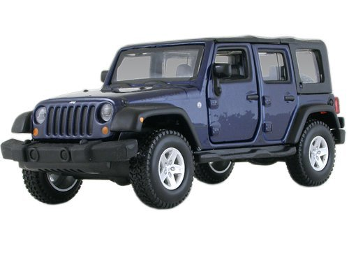 Jeep Wrangler Unlimited Rubicon 4 Doors Blue 1/32 by BBurago 43012 ()
