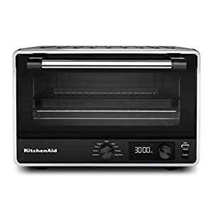 KitchenAid KCO211BM Digital Countertop Toaster Oven, Black Matte