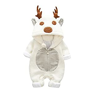 Traje unisex de unicornio con capucha y capucha para bebé, de ...