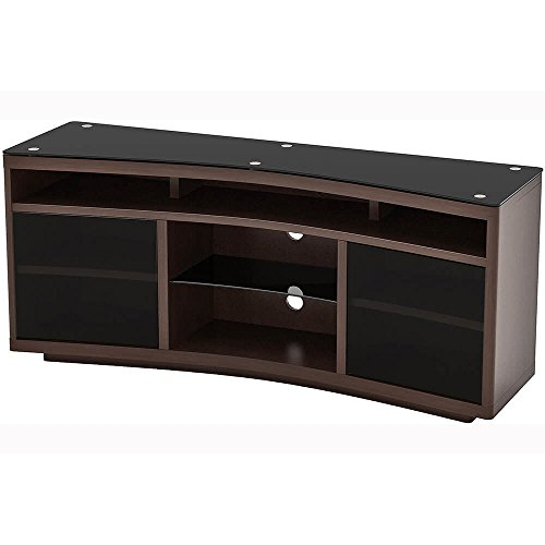 Z-Line Designs Radius Curved TV Stand, Brown