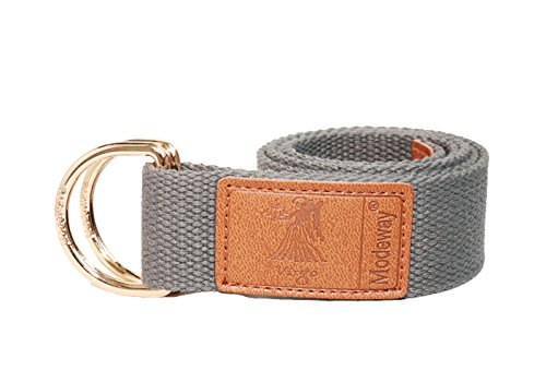 modeway-womens-mens-star-sign-canvas-web-double-d-ring-leather-gold-buckle-belt-m-l33-36-gray-virgo
