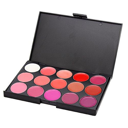 Professional 15 Colors Cosmetic Lip Gloss Lipstick Palette M