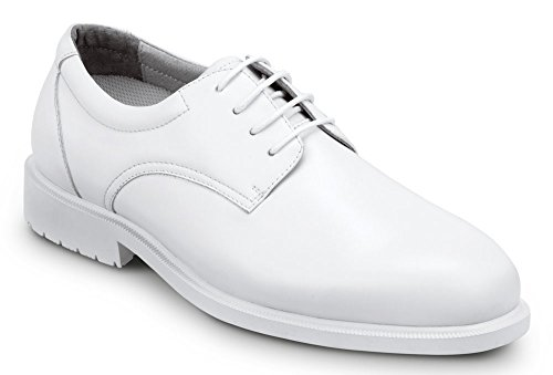 SRMax Mens Arlington Slip Resistant Dress Shoe (9.5 EW, White)