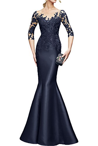 Rot Formal Meerjungfrau Brautmutterkleider Etuikleider Spitze Festlichkleider Langarm lang Abendkleider Braut Navy mia La Blau 0qxCEx