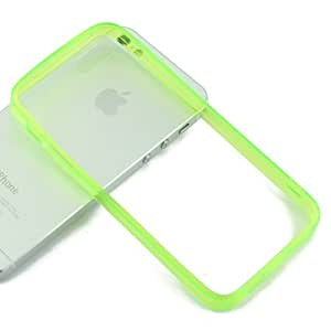 USAMZ909 iPhone 5 / 5S Perfect Protection Hard Soft TPU Case with Free Gifts! Color Green