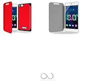 Rouge du courage Collection Exception Funda de Cuero para Wiko Fever 4G Flip Case Cover (Estuche) - FUNDA SOPORTE / PU Cuero - Accesorios Case Industry Smart Magnet