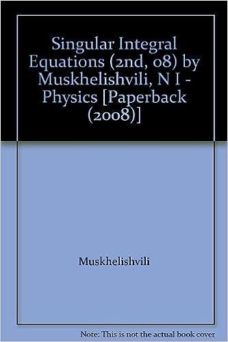 singular integral equations muskhelishvili n i