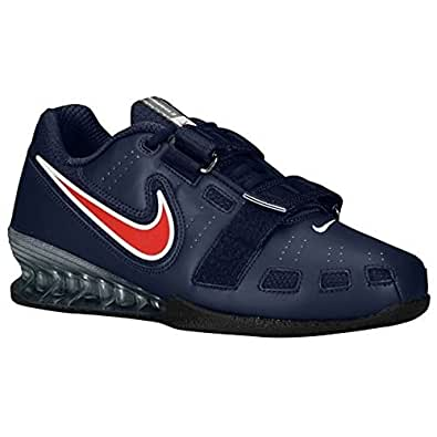 Nike Romaleos Ii Weighlifting Shoes - Obsidian/sport Red/white - 4 D(M)