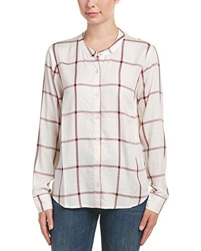 Splendid Womens Button-Up Shirt, L, White