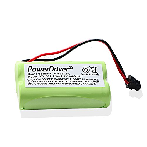 PowerDriver 2.4V Ni-MH Cordless home Phone Rechargeable Battery for Uniden BT-1007 BT1007 BT904 BT-904 BT1015 BBTY0460001 BBTY0510001 Panasonic HHR-P506 HHR-P506A Uniden DECT1480 DECT1560 DECT1580 Cordless Phones