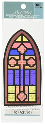 Jolee's By You Dimensional Sticker, Stained Glass Window