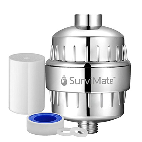 - SurviMate High Output 12-Stage Shower Head Filter Boosts Skin and Hair Health-Universal Shower Filter Remove Chlorine Heavy Metals Reduce Dry Itchy Skin,Dandruff,Eczema
