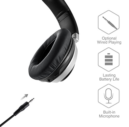 AudioMX HB-S3 Wireless Bluetooth 4.1 Over-Ear Headphones With Mic, Low Latency, HD Quality