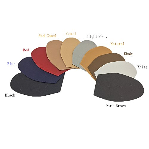 Schuh-Ersatz-Gummi-Halbsohle, Gummiplatte, Dicke und Farbe wählen, Packung mit 1 Paar Rotes Kamel