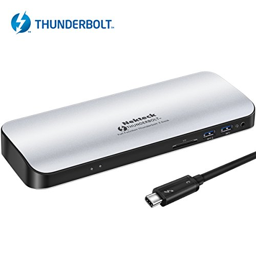 Cheap [Thunderbolt Certified] Nekteck Thunderbolt 3 PD Docking Station, Supports 4K HD Display, 60W Power Delivery, 4K HDMI2.0@60Hz, 5 USB 3.0 ports, for MackBook Pro Late 2016/2017 & Specific Windows/macOS