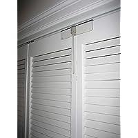 Cerradura de puerta de doble pliegue de lujo completa, paquete de 2: hecha de policarbonato transparente irrompible