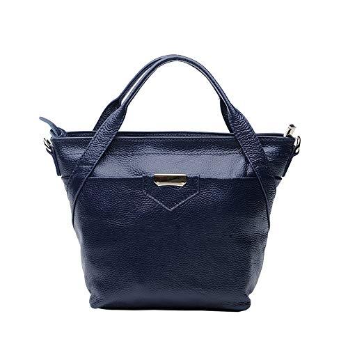 Décontractés Sacs Large Casual Cuir Bandoulière Sacs Femmes à Main à Top En Blue Mode Pour Handle xqn8P6Ywn