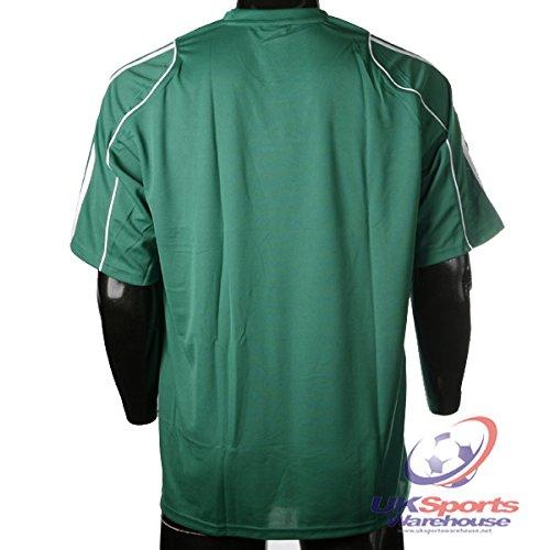 Adidas Squad 11 Climalite Camiseta De Fútbol Manga Corta Verde/Rayas Blancas - Chica: Amazon.es: Deportes y aire libre