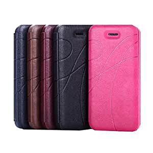 Business PU Leather Full Body Case for iPhone 5/5S (Assorted Colors) , Black
