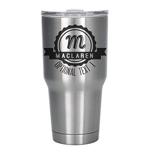 Monogrammed Soap Letter - Personalized Etched 30oz Stainless Steel Insulated Tumbler