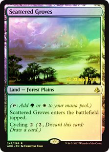 Magic: The Gathering - Scattered Groves - Foil - Prerelease Promo