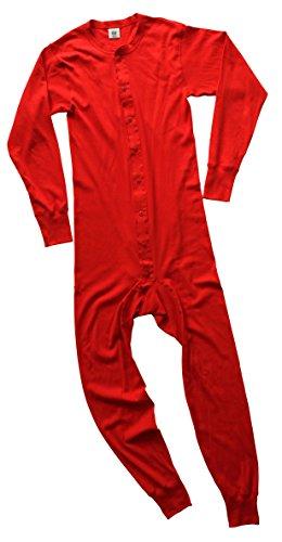 Rock Face Men's Big-Tall Union Suit Big, Red, 3X-Large (Mens Union Suit One Piece)