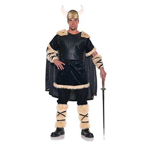 Men's Viking Costume - Thunder, Black/Tan, One Size ()