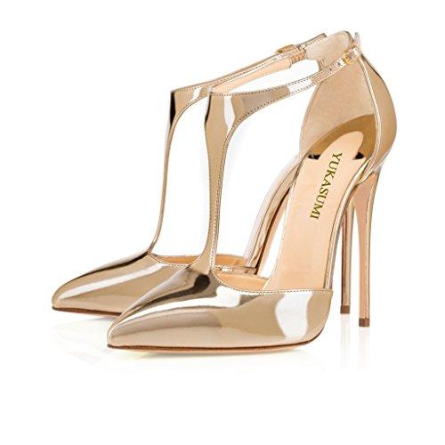 Kolnoo - Pantuflas de caña alta Mujer dorado