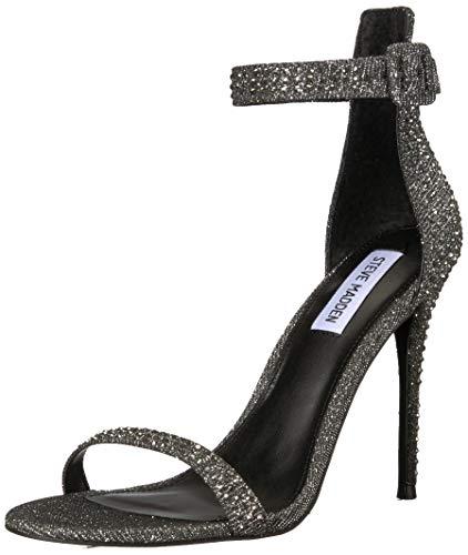 Steve Madden Women's Mischa Heeled Sandal, Rhinestone, 8 M US