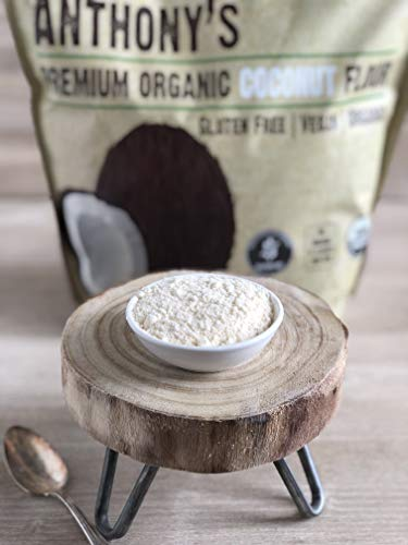 Anthony's Organic Coconut Flour, 4 lb, Batch Tested Gluten Free, Non GMO, Vegan, Keto Friendly