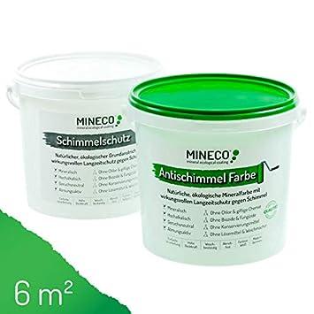 Mineco Antischimmel Farbe 6 M² Weiß ökologische Wandfarbe